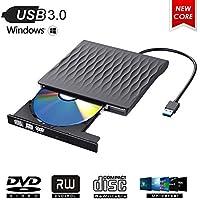 ShangQia Grabadora Lector CD DVD Externa,USB 3.0 Grabadora CD/DVD Ultra Slim Portátil Unidad Externa de DVD Burner Lector Óptico CD/DVD-RW Super Drive Compatible con Windows XP/7/8/10/Mac OS