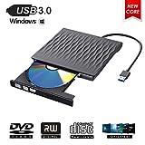 ShangQia Externes CD/DVD Laufwerk,USB 3.0 Tragbar DVD-RW DVD/CD Brenner Laufwerk,Hochgeschwindigkeits Datums Übertragung Externe CD Laufwerke für Laptops,Desktop,Unterstützt Windows XP/10/8/7/Mac OS