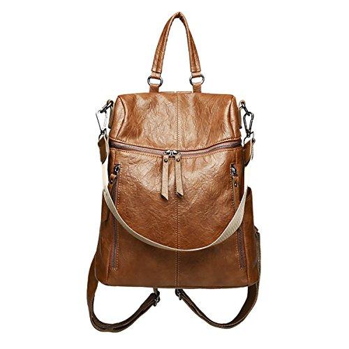 Tisdaini Donna Borse a zainetto moda casual PU cuoio da tracolla schoolbag borsa viaggio
