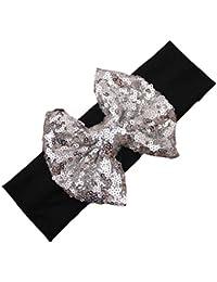 Interent Accessoires de mode enfants élastique serre-tête paillettes mignon Bow bébé cheveux