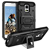 Coque Samsung Galaxy S5 /S5 NEO, BEZ Coque Etui Housse Antichoc Militaire [Tough Armor] Heavy Duty Shock Proof Survivor Protective Housse Pour Samsung Galaxy S5 /S5 NEO - Noir