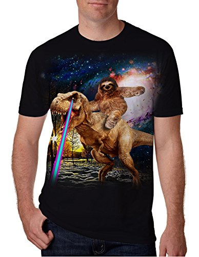 Goodstoworld 3D Dinosaurier Faultier Print T Shirt Herren Damen Sommer Lustige Beiläufige Kurzarm Aufdruck T-Shirts Tee Top XL - Jungen-baseball-tee