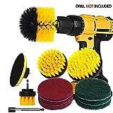 Power Scrubber Kit de brosses pour perceuse avec rallonge de 15,2 cm / 4 brosses en...