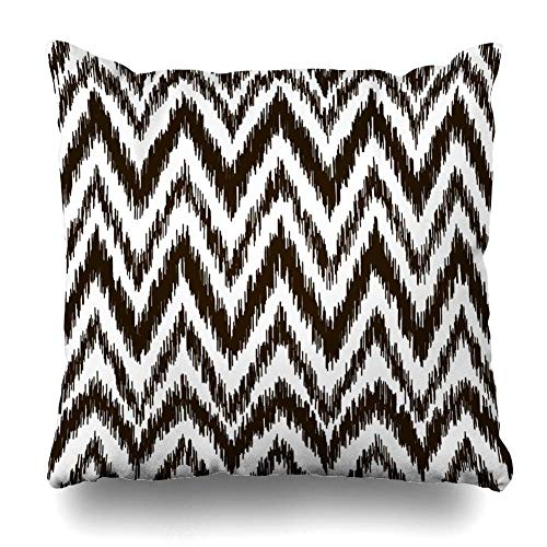 Kotdeqay Cushion Pillowcases 18 x 18 Inch Stripe Ikat Ethnic Aztec Tribal Culture N al for Couch Decorative