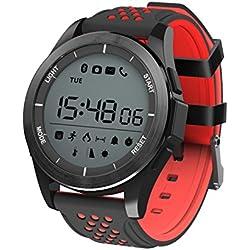 kxcd reloj inteligente pulsera F3deporte Fitness paso niños dormir Tracker reloj disparador remoto para Android Smart Phone iPhone Push mensaje aviso de llamada, red+black