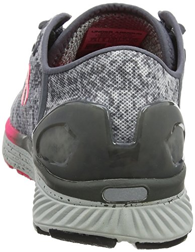 Under Armour Damen UA W Charged Bandit 3 Digi Laufschuhe, Grau/Rosa Grau (Blue Overcast Gray)