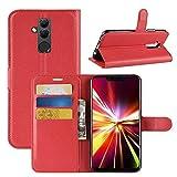 Lapinette Schutzhülle Wallet-Etui für Huawei matt 20 Lite rot