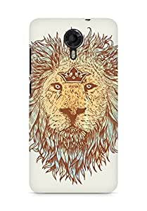 Amez designer printed 3d premium high quality back case cover for Micromax Canvas Xpress 2 E313 (The blue blooded and the brave lion)