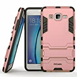 Sparkle Rugged Armor Case for Galaxy On5 , Defender 2 Shock Proof Neo Hybrid Dual Layer Kickstand Back Cover for Samsung Galaxy On5 - Rose Gold