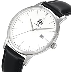 AIBI Waterproof Ultra-thin Mens Quartz Wrist watch with Date AB51101-1