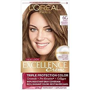 L'Oreal Paris Excellence Crème Triple Protection Color, Light Golden Brown