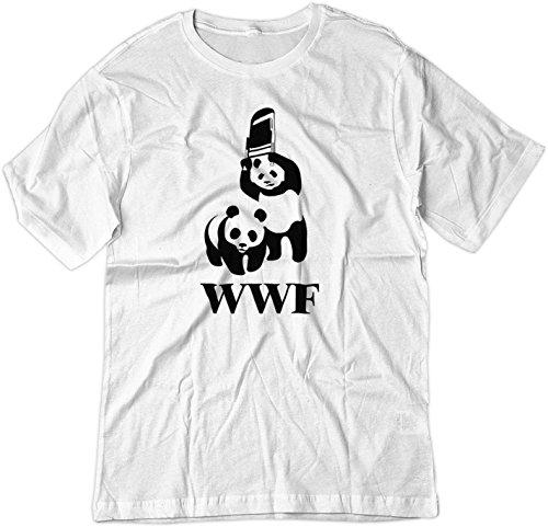BSW Men's BSW Men's WWF WWE Panda Wrestling Chair Parody Shirt