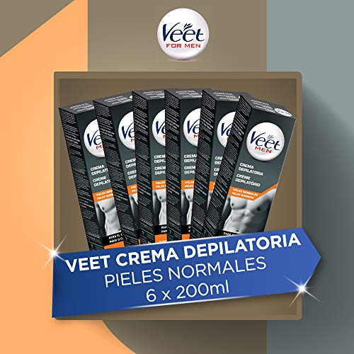 Veet for Men - Crema Depilatoria para Hombre, Pack de 6 x...