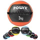 POWRX - Wall ball palla medica 2-10 kg - (3 kg / Arancione)