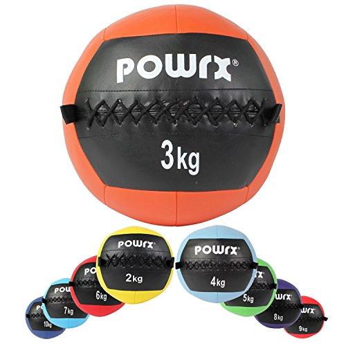 Wall Ball Balón Medicinal 2 - 10 kg - Ideal para los ejercicios de Fu