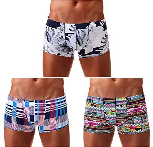 Arjen Kroos Herren Boxershorts Unterwäsche für Männer Men Sexy Boxer Shorts Briefs mit Muster Trunk Retroshorts Retropants Unterhosen Hipster