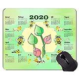 Calendario 2020 anni Simpatico tappetino per mouse da gioco ape, tappetini per mouse a tema acquerello Lotus