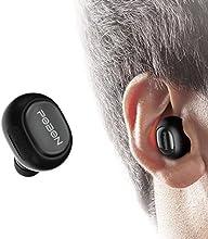 Auriculares Bluetooth Vobon Cascos Mini Inalámbricos Invisible In-Ear Estéreo con Micrófono Incorporado y Cancelación de Ruido de Apoyo Manos Libres para Moviles iPhone Samsung y Andriod Teléfonos