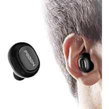 Auriculares Bluetooth Vobon Cascos Mini Inalámbricos Invisible In-Ear Estéreo con Micrófono Incorporado y Cancelación de Ruido de Apoyo Manos Libres para Moviles iPhone Samsung y Andriod Teléfonos (Negro)