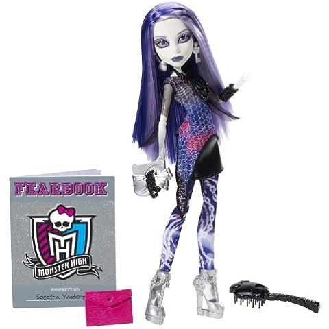 Mattel Y8499 - Muñeca Monster High (incluye anuario escolar), diseño de Spectra Vondergeist