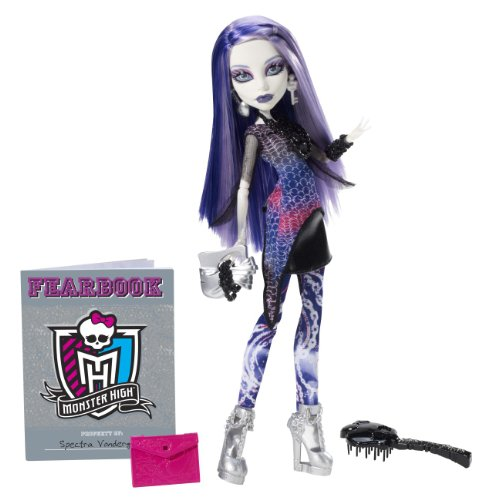 Monster Kostüm Lagoona Blue Puppe High - Mattel Monster High Y8499 -  Spectra Vondergeist, Puppe mit Jahrbuch