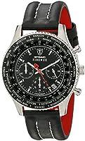 DETOMASO Firenze Men's Quartz Watch with Black Dial Chronograph Display and Black Leather Bracelet Sl1624C-Bk