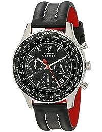 DETOMASO Herren-Armbanduhr Firenze Chronograph Leder Chronograph Quarz SL1624C-BK