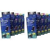 10 komp. XL Druckerpatronen für Epson Expression Premium xp 510 520 600 605 610 615 620 625 700 710 720 800 810 820 2 x schwarz 2 x photoschwarz 2 x blau 2 x rot 2 x gelb
