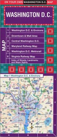 On Your Own Washington Dc Laminated Street Map (Washington Dc Street Map)