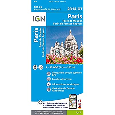 Paris, Forêts de Meudon et de Fausses Reposes : 1/25 000