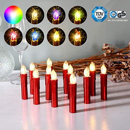 CCLIFE 20/30 piezas Vela led Árbol con mando velas de navidad led...