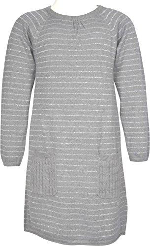 Name it Mädchen Strickkleid Kleid NITVYLFINA DRESS 13136420 grey melange Gr. 134