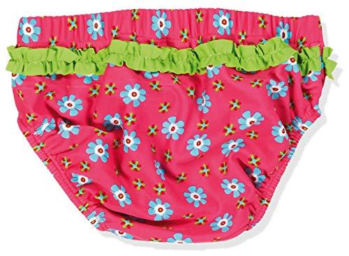 Playshoes Baby – Mädchen Schwimmwindel Badewindel, Badehose Blumen, UV-Schutz nach Standard 801 und Oeko-Tex Standard 100, Gr. 86 (Herstellergröße: 86/92), Mehrfarbig (original 900) - 2