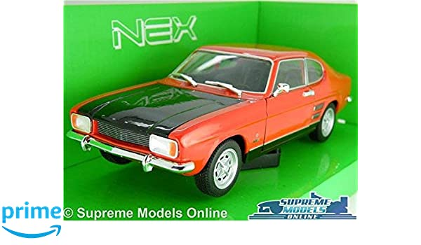 FORD CAPRI MK1 CAR MODEL 1969 1:24 SIZE RED//BLACK WELLY OPENING PARTS LARGE T4