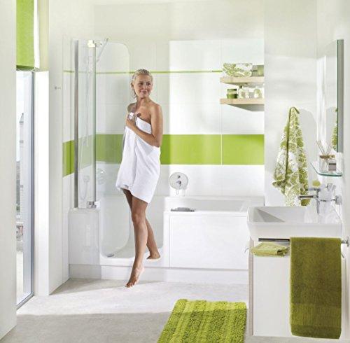 Badewanne mit Tür und Dusche 160 Artweger Twinline 2 mit Rutschhemmende Zone Profil silber matt