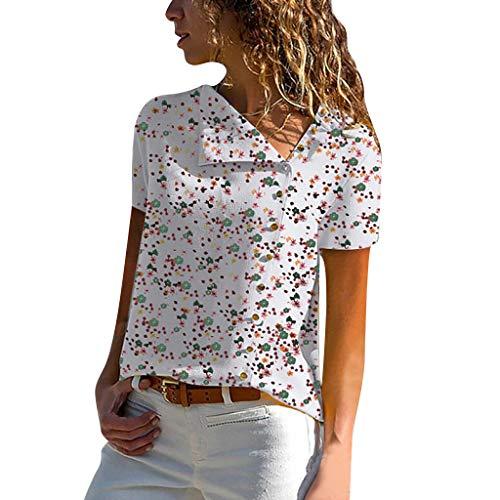 ITISME FRAUEN BLUSE Bluse Damen Langarm hemdbluse einfarbig Business Hemd Herbst und Sommer Revers Kragen S-XXL (XX-Large, Blau)