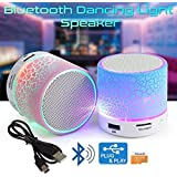 Xiaomi Redmi 3s Compatible Latest Wireless Rechargeable Bluetooth Speaker With Led S10 With Handsfree Calling Feature, Fm Radio & Sd Card Slot Disco Lights - USB Plug & Play - MP3 Player - Car Audio Player (Assorted Colour) By Mobizu