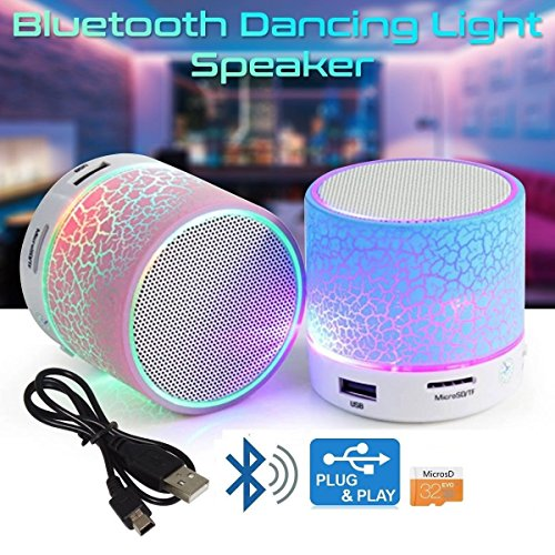 Oppo R7 lite Compatible Latest Wireless Rechargeable Bluetooth Speaker With Led S10 With Handsfree Calling Feature, Fm Radio & Sd Card Slot Disco Lights - USB Plug & Play - MP3 Player - Car Audio Player (Assorted Colour) by Mobizu  available at amazon for Rs.290