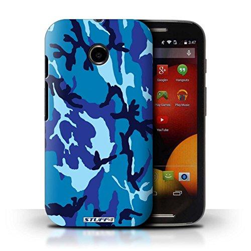 Kobalt® Imprimé Etui / Coque pour Motorola Moto E (2014) / Marron 2 conception / Série Armée/Camouflage Bleue 4