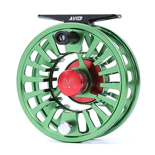 MAXIMUMCATCH Avid Serie Wert Fliegenfischen Rolle-1/3, 3/4, 5/6, 7/8, 9/10wt, 5 Farbe auszuwählen (Grün, 7/8wt) 1/3 Serie