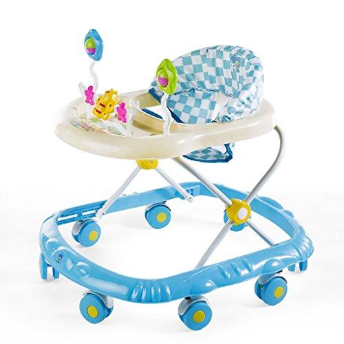 Baby Walker Blau/Rosa/Orange 6-18 Monate Kind Anti-Überschlag Multifunktion Zusammenklappbar Mit Musik Große Räder Spielzeug Wagen 66 * 56 * 57 cm Für Neugeborene ()