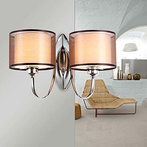 Möbel-Kunst-Wandlampe Nachttischlampe Moderne einfache kreative LED-Wandlampe Schlafzimmer-Wohnzimmer Chinesische doppelköpfige Treppe Gang-Wandlampe (Toile Schlafzimmer)