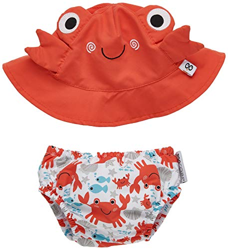 Zoocchini maillot/sombrero, diseño de cangrejo S 3-6meses
