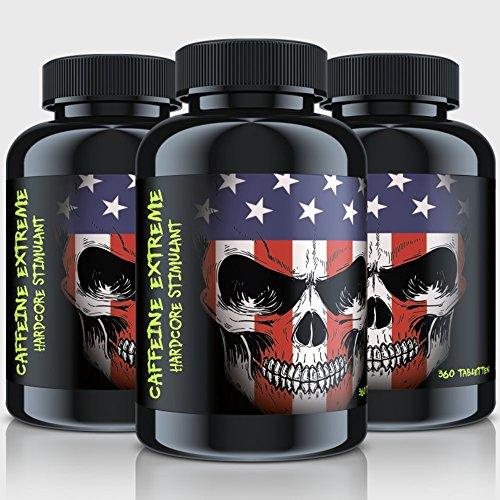 CAFFEINE EXTREME | 360 Tabletten (vegan) á 200mg KOFFEIN ANHYDROUS | Beste Qualität | Anti-Müdigkeit | Natürlicher Fatburner | Unterstützung für Diät, Stoffwechsel und Konzentration