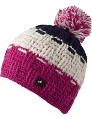 Caspar Hat - bonnet tendance tricoté avec pompon pour femmes ou également homme - fait main au Népal - 2013-14, bonnet tricoté avec polaire intérieure pompon chapeau