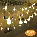 Descrizioni:Marca: B rightDurata di vita della lampada: 50000h.Colore LED: Bianco caldoPerline lampada: 40LED Globe catena luminosaFunzionamento a batteria: 3x batterie AA (non incluse) Funzione:& # CP-X3010; Luce calda & # x3011; la 11.5...