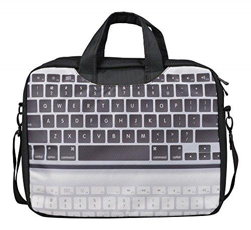 MySleeveDesign Laptoptasche Notebooktasche mit Tragegurt für 13,3 Zoll / 14 Zoll / 15,6 Zoll / 17,3 Zoll - VERSCH. DESIGNS - Keyboard [17]