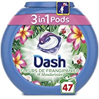 Dash 3 en 1 Pods Fleurs de Frangipanier Lessive Capsules 47 Lavages -