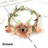 juxinuk 1pc handgemachte Blumen Candy Bell Hundehalsband (Braun)