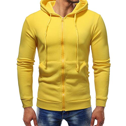 VENMO Herren Zip Hoody Reißverschluss Fleece Sport Fitness Training Sweatshirt Kapuzenpullover Langarmshirt Pullover Sweats Pulli Hoodie Outwear Tops -